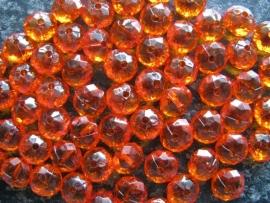 Facet rondel oranje 12 bij 7 mm