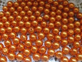 Acryl parels oranje 10mm
