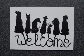 Tekstbord Welcome Honden