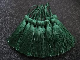 Luxe tassel Midden Groen