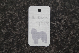 Label Old English Sheepdog