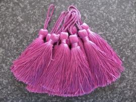 Luxe tassel Donker fuchsia