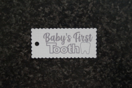 Label Baby's First Tooth