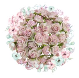 Roosjes 2 Tone Baby Pink / Ivory 10mm Bosje van 10