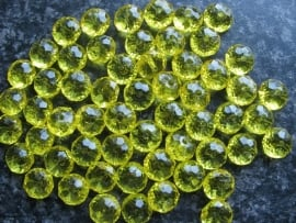 Facet rondel geel 12 bij 7 mm