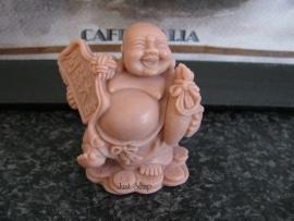 Boeddha met zak op munten