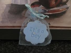 Geboorte Bedankje Bloemetje It's a Boy