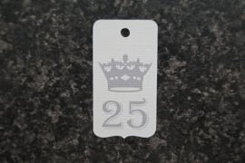 Label 25 kroon