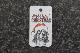 Label Berner Sennen Kerst 3 (10 stuks)
