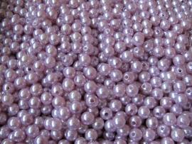 Acryl parels licht roze 8mm ( 20 stuks )