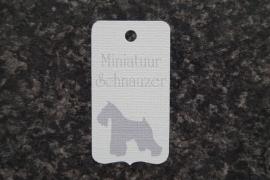 Label Miniatuur Schnauzer