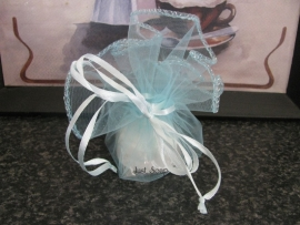 Organza buidel Licht Turquoise