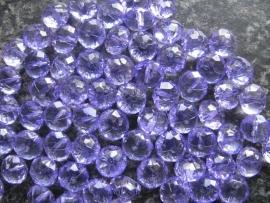 Facet rondel lila 10 bij 6 mm