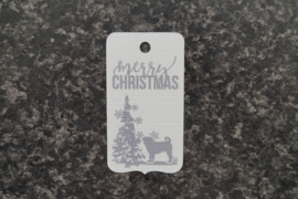 Merry Christmas Mopshond (10 stuks)