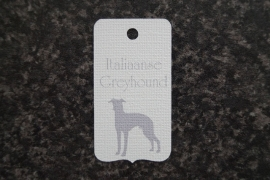 Label Italiaanse Greyhound