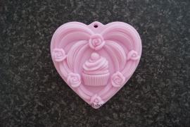 Cupcake op hart