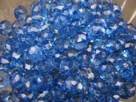 Facet rondel donker blauw 10 bij 6 mm