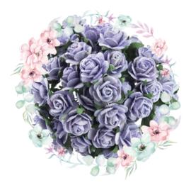 Roosjes Lavendel 10mm Bosje van 10