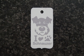Label I love schnauzer
