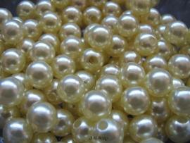 Acryl parels zacht geel 10mm