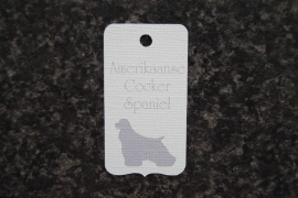 Label Amerikaanse Cocker Spaniel