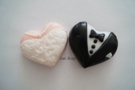 Bruidspaar harten