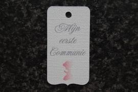 Label Mijn eerste Communie Meisje