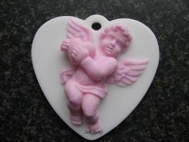Engel op hart met hartje