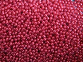 Acryl parels rood 8mm ( 20 stuks )