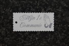 Label Mijn 1e Communie Biddende handen