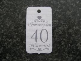 Label 40 Smaragden Huwelijk