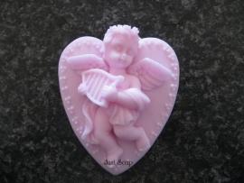 Zeepmal Engel op hartje