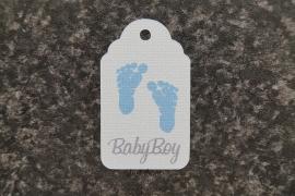 Label Voetjes Babyboy