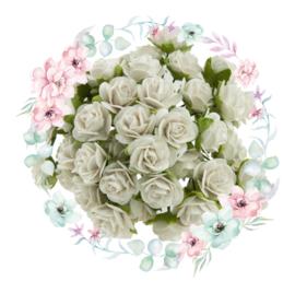 Roosjes White 10 mm Bosje van 10