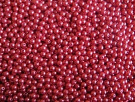 Acryl parels rood donker 8mm ( 20 stuks )