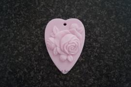 Zeepmal Hartje met roos 2