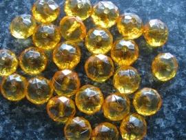Facet rondel oranje (2)  10 bij 6 mm