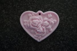 Zeepmal Hart met rozen 3