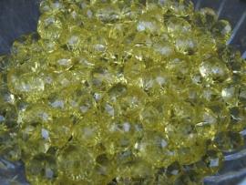 Facet rondel geel 10 bij 6 mm