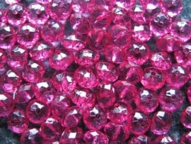 Facet rondel fuchsia 10 bij 6 mm