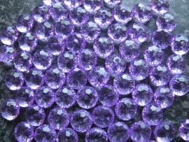 Facet rondel paars 12 bij 7 mm
