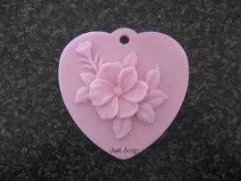 Hart met bloem 2