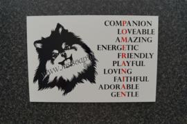 Tekstbord Pomeranian