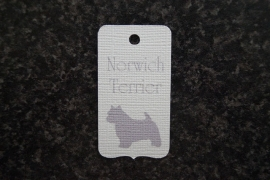 Label Norwich Terrier