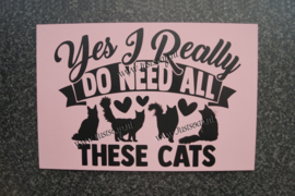 Tekstbord Yes I Really do need all these Cats Maine Coon