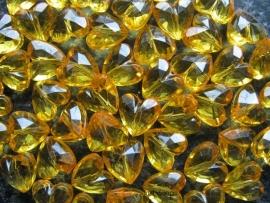 Facet hart 12mm Geel