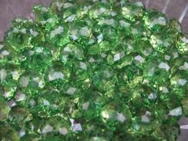 Facet rondel groen 10 bij 6 mm