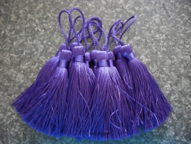 Luxe tassel Marine Blauw/Paars