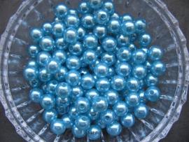 Acryl parels turquoise 10mm
