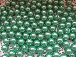Acryl parels groen 10mm